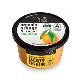 ORGANIC SHOP Body Scrub Sicilian Orange Scrub Σώματος Πορτοκάλι & Ζάχαρη 250ml