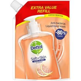 DETTOL Soft On Skin Hard On Dirt Anti-Bacterial Liquid Hand Wash Refill Grapefruit Ανταλλακτικό Αντιβακτηριδιακό Υγρό Κρεμοσάπουνο 500ml