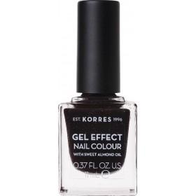 KORRES Gel Effect Nail Colour Ημιμόνιμο Βερνίκι Νυχιών Απόχρωση Νο77 Sequins Plum 11ml