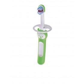 MAM Baby's Brush Βρεφική Οδοντόβουρτσα με Ασπίδα Προστασίας Χρώμα Πράσινο 6m+ 1τμχ