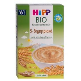 HIPP Bio Κρέμα Βιολογικής Καλλιέργειας 5 Δημητριακών 200gr