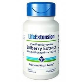 LIFE EXTENSION BILBERRY EXTRACT 100mg 90 Κάψουλες