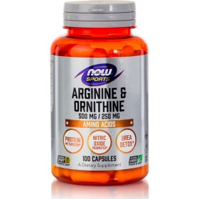 NOW FOODS Sports L-Arginine & Ornithine 500/250mg 100 Caps