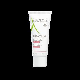 A-DERMA Rheacalm Soothing Rich Cream Καταπραυντική Κρέμα Προσώπου Πλούσιας Υφής 40ml