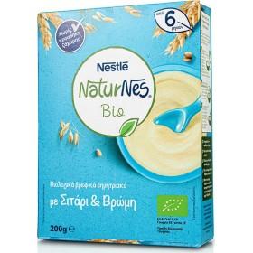 NESTLE NaturNes Bio Βιολογικά Βρεφικά Δημητριακά με Σιτάρι και Βρώμη απο 6 Μηνών 200g