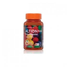 ALTION Kids Polyvitamins Συμπλήρωμα Διατροφης για Παιδιά 3 Ετων και Άνω Σε δύο ΥπέροχεςΓεύσεις Κεράσι & Πορτοκάλι 60 Μασώμενα Ζελεδάκια