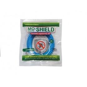 MENARINI Mo-Shield Insect Repellent Band Αντικουνουπικό Βραχιόλι Χρώμα Γαλαζιο 1τμχ