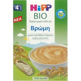 HIPP Bio Κρέμα Χωρίς Γάλα με Βρώμη απο τον 4ο Μήνα 200g