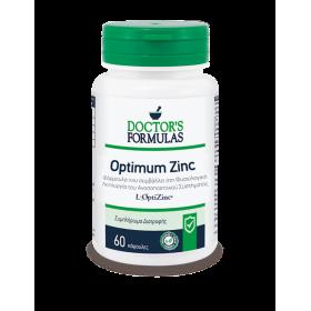 DOCTOR'S FORMULAS Optimum Zinc Συμπλήρωμα Διατροφής με Ψευδάργυρο που Ενισχύει το Ανοσοποιητικό Σύστημα 60 Κάψουλες