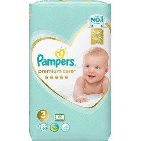 PAMPERS Premium Care Βρεφικές Πάνες No3 (6-10kg) 60τμχ