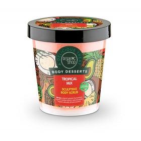 ORGANIC SHOP Body Desserts Tropical Mix Απολεπιστικό Σώματος για Σμίλευση με Άρωμα Τροπικών Φρούτων (Προϊόν που Προκαλεί Θερμότητα) 450ml