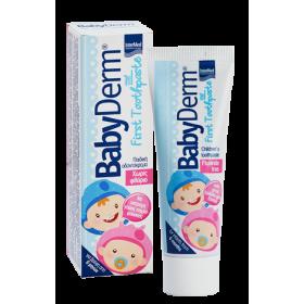 INTERMED Babyderm First Toothpaste με γευση τσιχλόφουσκας 50ml