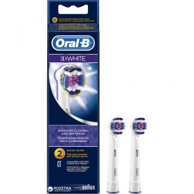 ORAL-B 3D White Ανταλλακτικά Βουρτσάκια 2τμχ