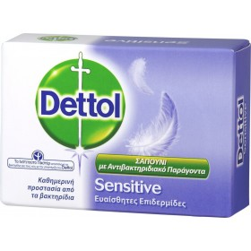 DETTOL Soft On Skin Hard On Dirt Bar Soap Sensitive Αντιβακτηριδιακό Σαπούνι 100g