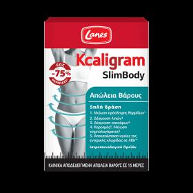 LANES Kcaligram SlimBody Συμπλήρωμα Διατροφής 5απλής Δράσης για Απώλεια Βάρους σε 15 Ημέρες 60 Κάψουλες