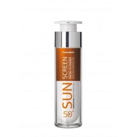 FREZYDERM Sun Screen Cream to Powder Vitamin D Like Skin Benefits Αντηλιακή Κρέμα Προσώπου SPF50+ 50ml