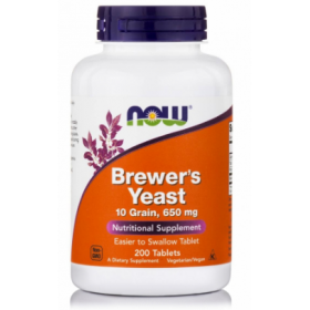 NOW FOODS Brewer's Yeast 650 mg 200 Tabs