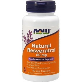 NOW FOODS Natural Resveratrol - 60 Vcaps