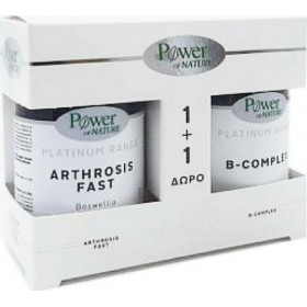POWER HEALTH Power of Nature Platinum Range 1+1 Arthrosis Fast 30 Ταμπλέτες & B-Complex 20 Ταμπλέτες