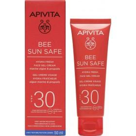 APIVITA Bee Sun Safe Hydra Fresh Face Gel-Cream Αντηλιακή Τζέλ-Κρέμα Προσώπου με Ελαφριά Υφή SPF30 50ml