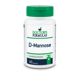 DOCTOR'S FORMULAS D-Mannose Συμπλήρωμα Διατροφής για τη Καλή Υγεία του Ουροποιητικού Συστήματος 60 Κάψουλες