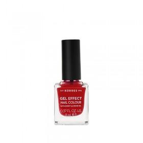 KORRES Gel Effect Nail Colour Ημιμόνιμο Βερνίκι Νυχιών Απόχρωση Νο51 Rosy Red 11ml