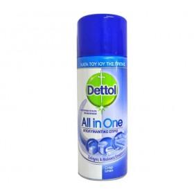 DETTOL All In One Crisp Linen Απολυμαντικό Αντιβακτηριδιακό Σπρέι Κατά του Ιού της Γρίπης για Σκληρές & Μαλακές Επιφάνειες 400ml