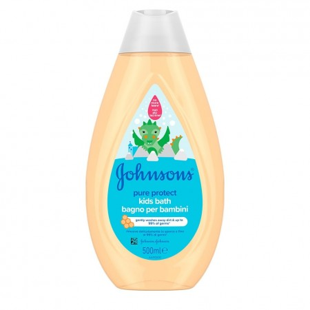 JOHNSON'S Pure Protect Kids Bath Παιδικό Αφρόλουτρο που Απομακρύνει τα Μικρόβια Κατά 99,9% 500ml