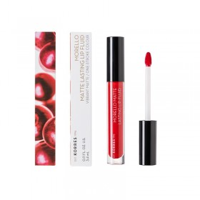 KORRES Morello Matte Lasting Lip Fluid Υγρό Κραγιόν Μεγάλης Διάρκειας για Τέλειο Ματ Αποτέλεσμα Απόχρωση 53 Red Velvet 3.4ml