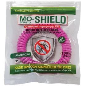 MENARINI Mo-Shield Insect Repellent Band Αντικουνουπικό Βραχιόλι Χρώμα Ρόζ 1τμχ