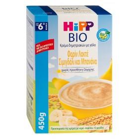 HIPP Bio Φαρίν Λακτέ Σιμιγδάλι & Μπανάνα από τον 6ο μήνα 450gr