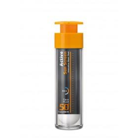 FREZYDERM Active Sun Screen Face Fluid Αντηλιακή Κρέμα με Λεπτόρευστη Υφή SPF50+ 50ml