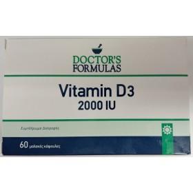 DOCTOR'S FORMULAS Vitamin D3 2000IU 50μg Συμπλήρωμα Διατροφής με Βιταμίνη D3 60 Μαλακές Κάψουλες