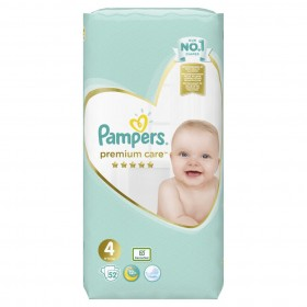 PAMPERS Premium Care Βρεφικές Πάνες No4 (9-14kg) 52τμχ