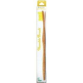 THE HUMBLE CO. Adult Medium Toothbrush Οδοντόβουρτσα απο Μπαμπού με Μέτρια Τρίχα Χρώμα Κίτρινο 1τμχ
