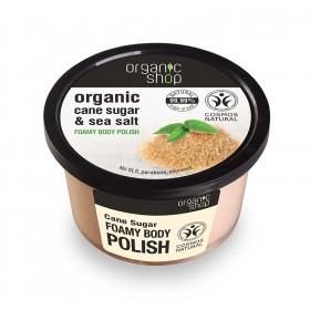 ORGANIC SHOP Foamy Body Polish Cane Sugar Αφρώδες Scrub Σώματος Ζάχαρη Ζαχαροκάλαμου & Θαλασσινό Αλάτι 250ml