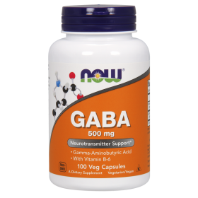 NOW FOODS Gaba 500mg 100 Caps