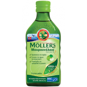 MOLLER'S Μουρουνέλαιο Γεύση Μήλο 250ml