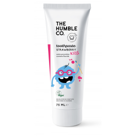 THE HUMBLE CO. Natural Toothpaste For Kids Φυσική Παιδική Οδοντόκρεμα με Γεύση Φράουλα 500ppm F απο 0m+ 75ml