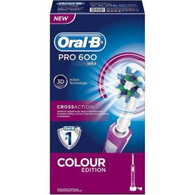 ORAL-B Pro 600 Cross Action Colour Edition Χρώμα Ρόζ Ηλεκτρική Οδοντόβουρτσα