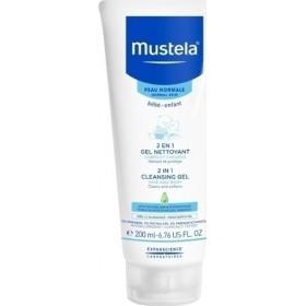 MUSTELA 2 in 1 Cleansing Gel Απαλό Βρεφικό Τζέλ Καθαρισμού για Σώμα & Μαλλιά 200ml