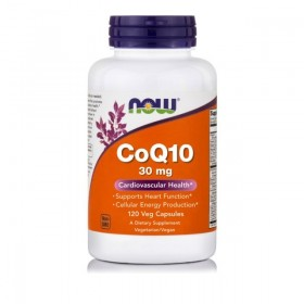 NOW FOODS CoQ10 30 mg Vegetarian 120 Vcaps