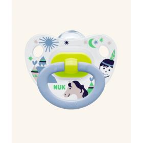 NUK Classic Happy Days Πιπίλα Σιλικόνης με Σχέδια για Αγόρι 0-6m