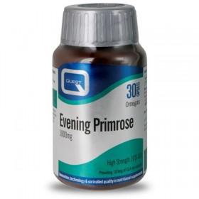 QUEST Evening Primrose 1000mg Συμπλήρωμα Διατροφής με Έλαιο Νυχτολούλουδου 30 Κάψουλες