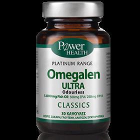 POWER HEALTH Omegalen Ultra 1000mg Συμπλήρωμα Διατροφής με Ιχθυέλαιο Μοριακής Απόσταξης 30 Κάψουλες