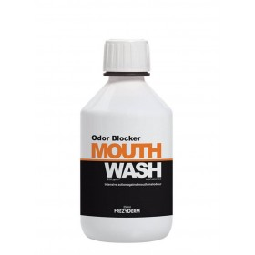 FREZYDERM Odor Blocker Mouthwash Στοματικό Διάλυμα με Φθόριο 250ppm F 250ml