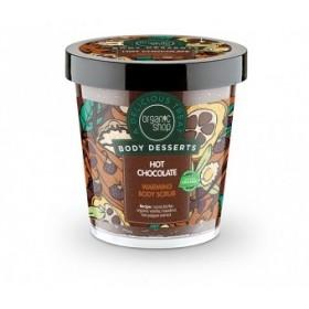 ORGANIC SHOP Body Desserts Hot Chocolate Ζεστή Σοκολάτα Θερμαντικό Απολεπιστικό Σώματος (Προϊόν που Προκαλεί Θερμότητα) 450ml
