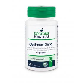 DOCTOR'S FORMULAS Optimum Zinc Συμπλήρωμα Διατροφής με Ψευδάργυρο που Ενισχύει το Ανοσοποιητικό Σύστημα 30 Κάψουλες