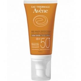 AVENE Sun Creme Αντηλιακή Κρέμα Πλούσιας Υφής Προσώπου με Χρώμα SPF50+ 50ml
