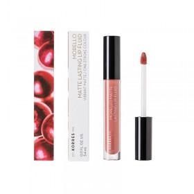 KORRES Morello Matte Lasting Lip Fluid Υγρό Κραγιόν Μεγάλης Διάρκειας για Τέλειο Ματ Αποτέλεσμα Απόχρωση 06 Romantic Nude 3.4ml